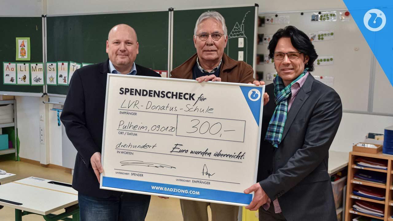 Spendenscheckübergabe in der LVR-Donatus-Schule Pulheim